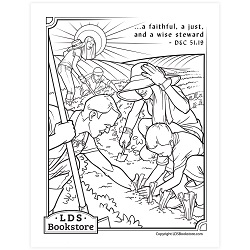 A Wise Steward Coloring Page - Printable free lds coloring page, lds coloring page, come follow me activities, come follow me coloring page, doctrine and covenants coloring page