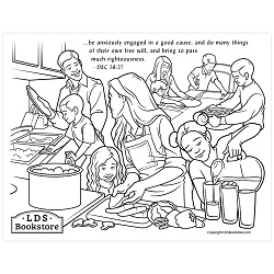 Anxiously Engaged in a Good Cause Coloring Page - Printable free lds coloring page, lds coloring page, come follow me activities, come follow me coloring page, doctrine and covenants coloring page