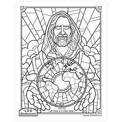 All Flesh Is In Mine Hand Coloring Page - Printable free lds coloring page, lds coloring page, come follow me activities, come follow me coloring page, doctrine and covenants coloring page