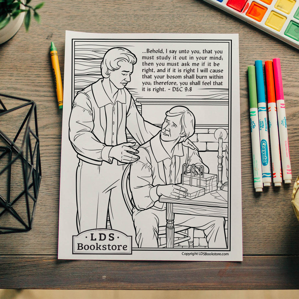 Study It Out In Your Mind Coloring Page - Printable  - LDPD-PBL-COLOR-DOCTCOV9