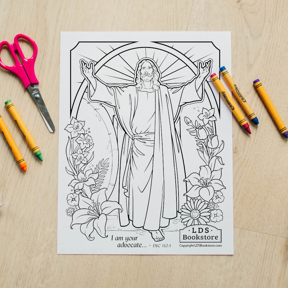 I Am He Who Liveth Easter Coloring Page - Printable  - LDPD-PBL-COLOR-EASTER21