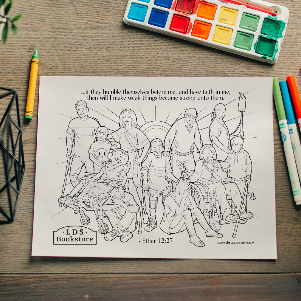 I Will Make Weak Things Strong Coloring Page - Printable - LDPD-PBL-COLOR-ETHER12