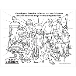 I Will Make Weak Things Strong Coloring Page - Printable come follow me coloring page, free lds coloring page, come follow me activity, come follow me, book of mormon coloring page
