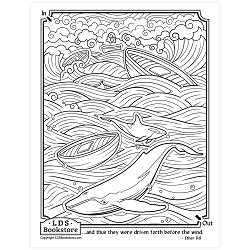 Driven Towards the Promised Land Coloring Page - Printable come follow me coloring page, free lds coloring page, come follow me activity, come follow me, book of mormon coloring page