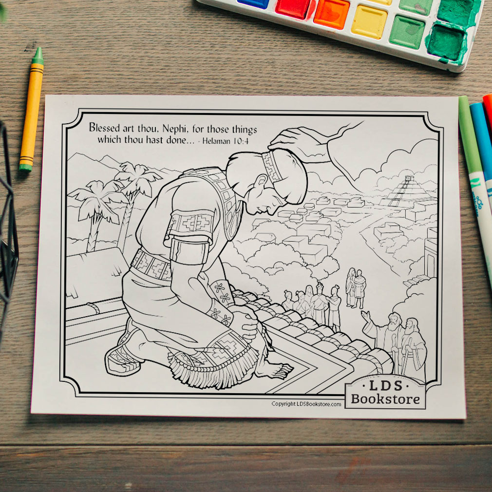 Blessed Art Thou Nephi Coloring Page - Printable  - LDPD-PBL-COLOR-HEL10