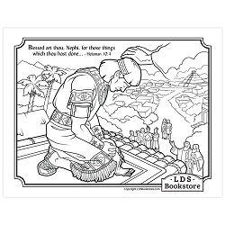 Blessed Art Thou Nephi Coloring Page - Printable  book of mormon coloring page, come follow me coloring page, lds coloring page, helaman 10, jesus christ coloring page