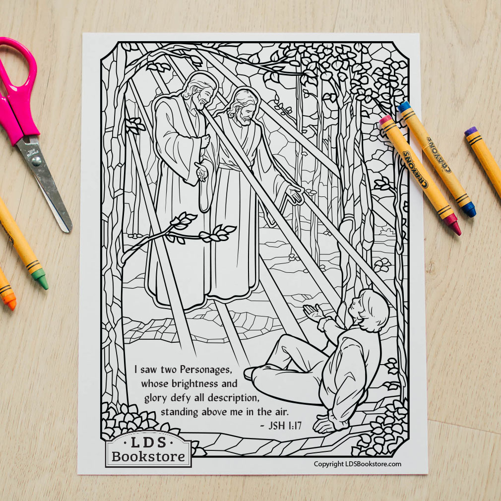 Joseph Smith's First Vision Coloring Page - Printable   - LDPD-PBL-COLOR-JSH117
