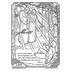 Joseph Smith's First Vision Coloring Page - Printable   free lds coloring page, lds coloring page, come follow me activities, come follow me coloring page, doctrine and covenants coloring page, first vision coloring page, first vision printable
