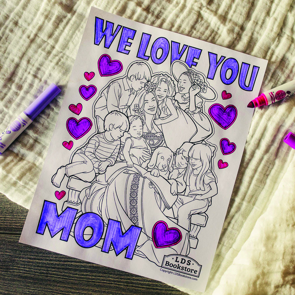 We Love You Mom Coloring Page - Printable  - LDPD-COLOR-MOM21