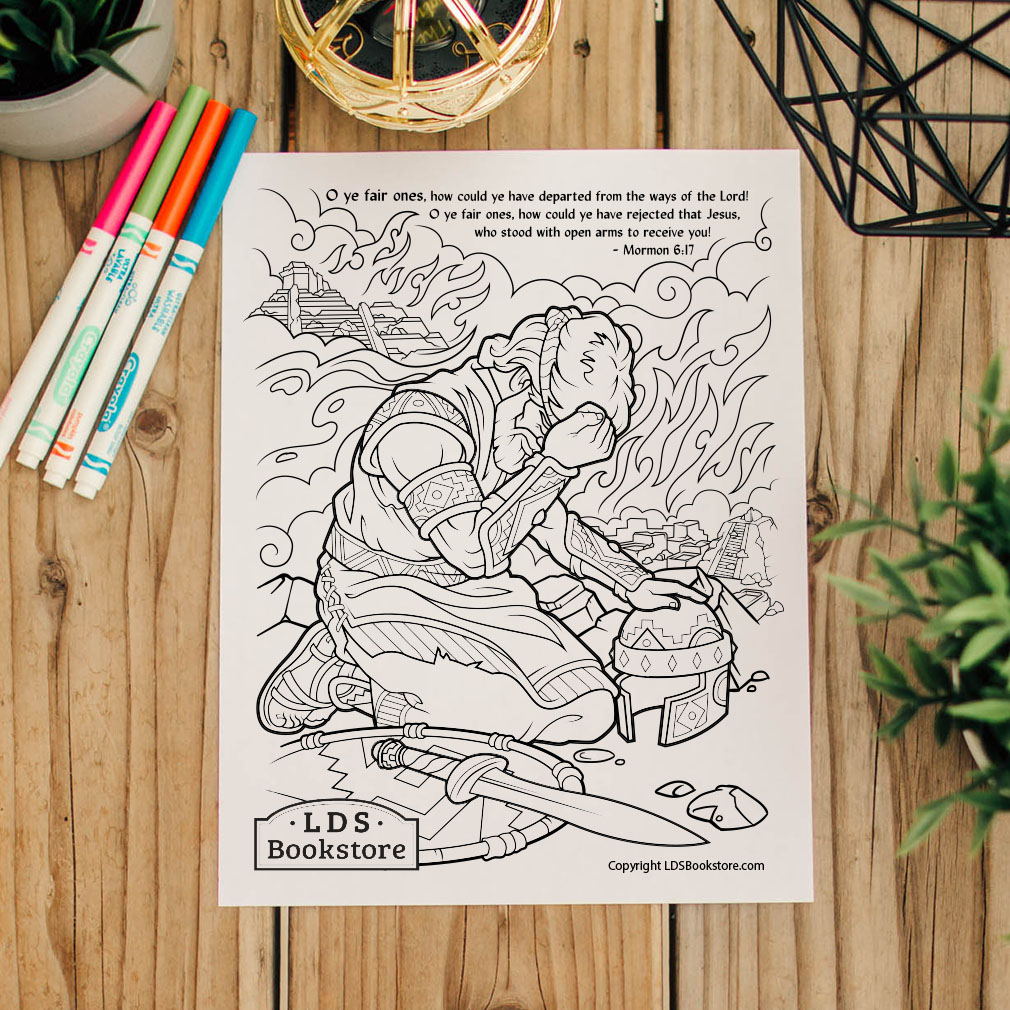 O Ye Fair Ones Coloring Page - Printable  - LDPD-PBL-COLOR-MORMON6