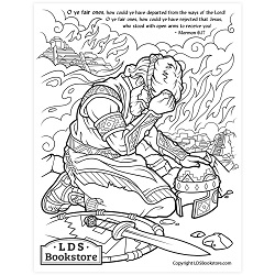O Ye Fair Ones Coloring Page - Printable  come follow me coloring page, free lds coloring page, come follow me activity, come follow me, book of mormon coloring page