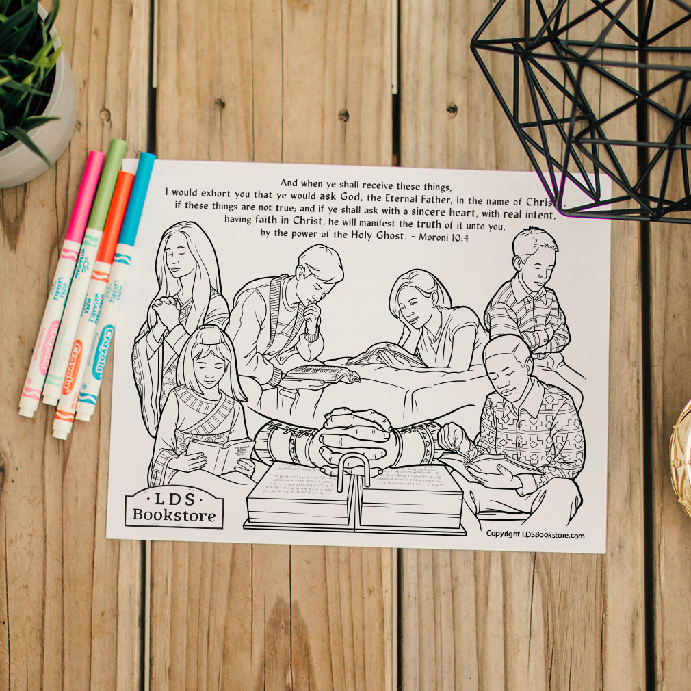When Ye Shall Receive These Things Coloring Page - Printable - LDPD-PBL-COLOR-MORONI10
