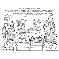 When Ye Shall Receive These Things Coloring Page - Printable book of mormon coloring page, come follow me coloring page, lds coloring page, moroni 10 coloring page