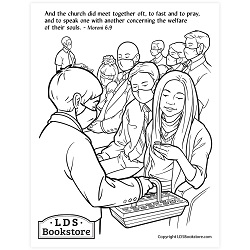 Meet Together Oft Coloring Page - Printable come follow me coloring page, free lds coloring page, come follow me activity, come follow me, book of mormon coloring page