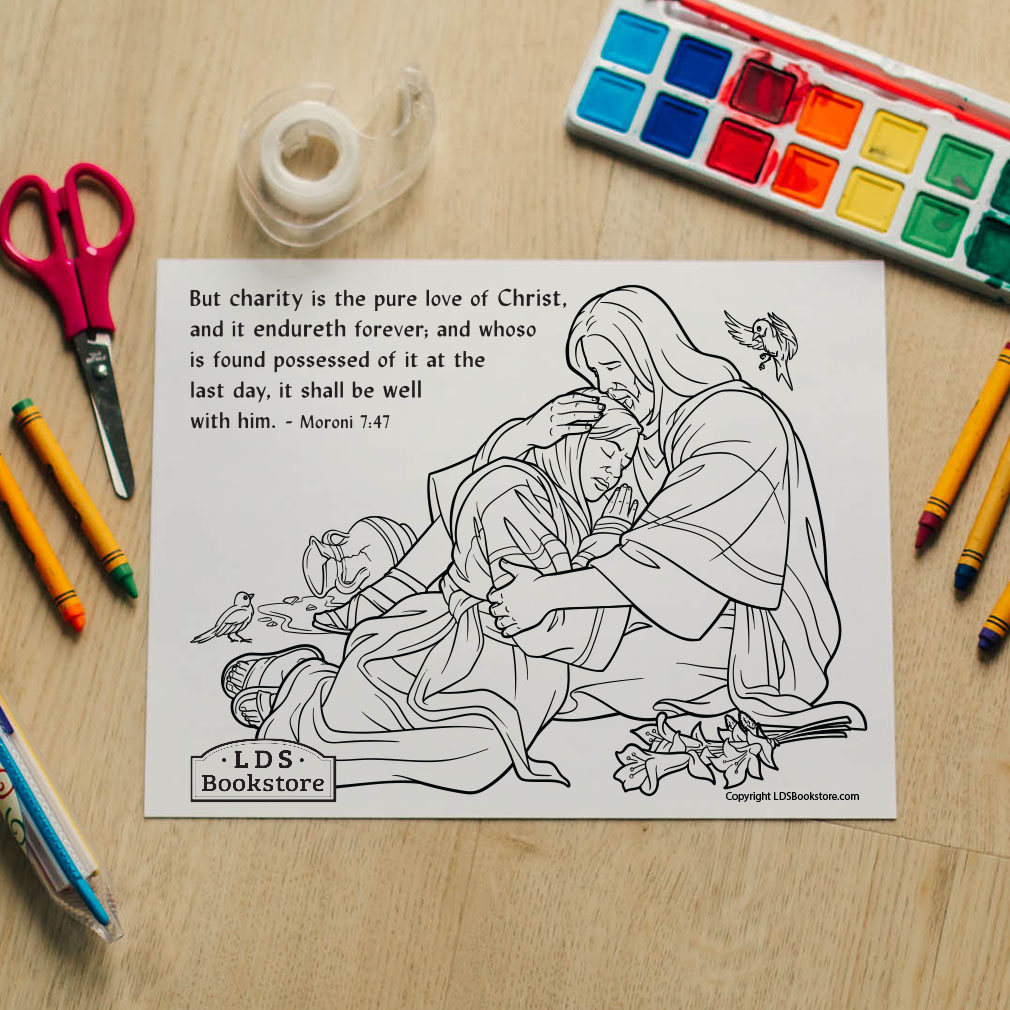 The Pure Love of Christ Coloring Page - Printable   - LDPD-PBL-COLOR-MORONI7