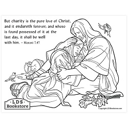 The Pure Love of Christ Coloring Page - Printable   book of mormon coloring page, come follow me coloring page, lds coloring page,