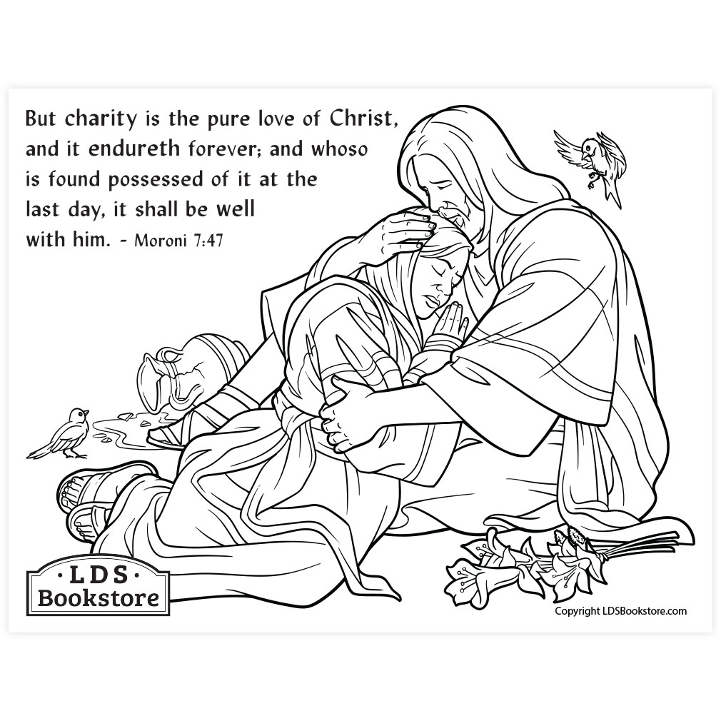 The Pure Love Of Christ Coloring Page Printable