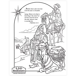 Wise Men Nativity Coloring Page - Printable  free lds coloring page, nativity coloring page, christmas coloring page, come follow me coloring page