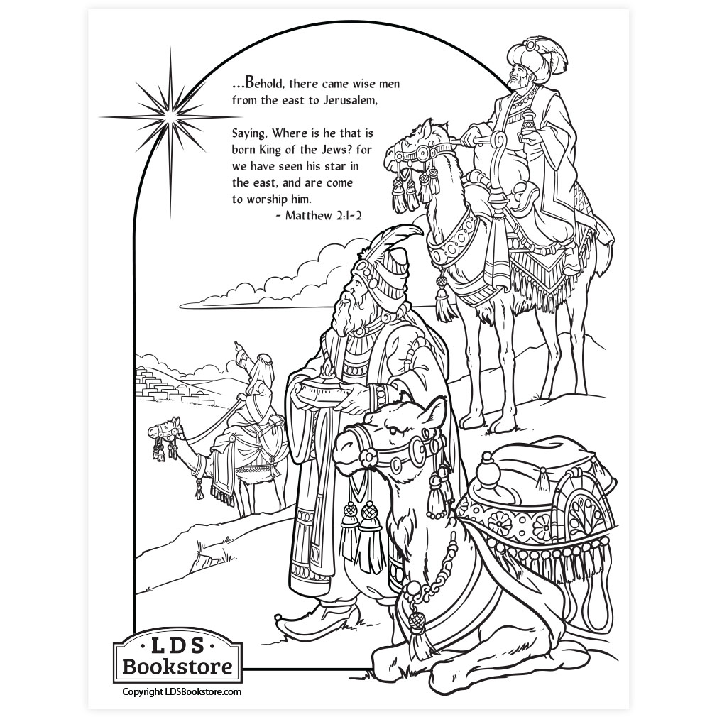 Wise Men Nativity Coloring Page - Printable | Christmas ...