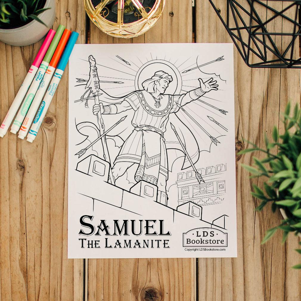 Samuel the Lamanite Coloring Page - Printable - LDPD-PBL-COLOR-SAMLAM