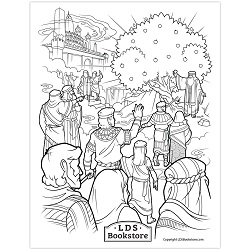 Tree of Life Coloring Page - Printable tree of life coloring page, lds coloring page, free lds coloring page