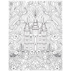 Easter Salt Lake Temple Coloring Page - Printable