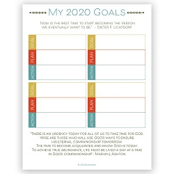 2020 LDS Goal Setting Worksheet - LDPD-PBL-2020GOAL