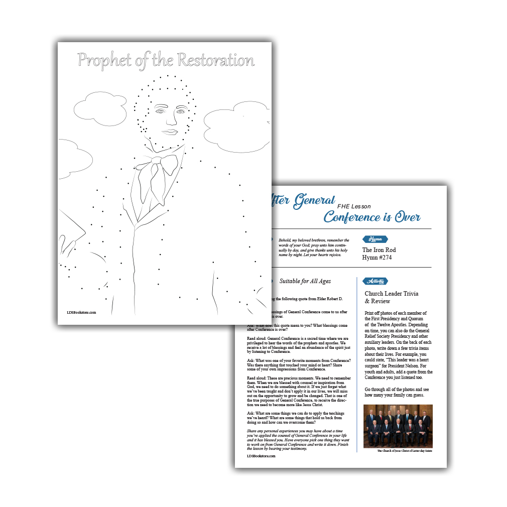 April 2020 General Conference Printable Activity Packet - LDPD-PBL-GCP-AP20
