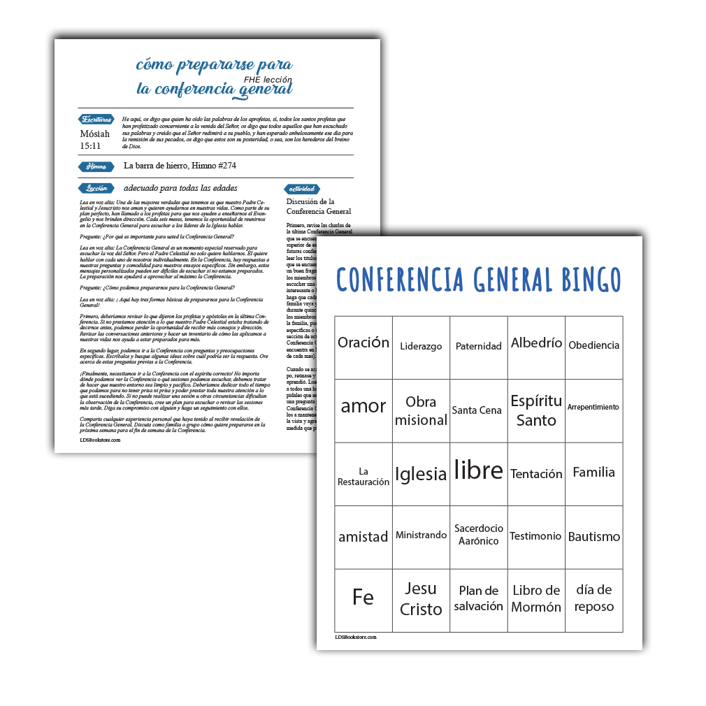 April 2020 General Conference Printable Activity Packet - Spanish - LDPD-PBL-GCP-AP20-SPN