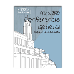 April 2020 General Conference Printable Activity Packet - Spanish general conference printable, general conference activity packet, free general conference printable, spanish general conference activity packet