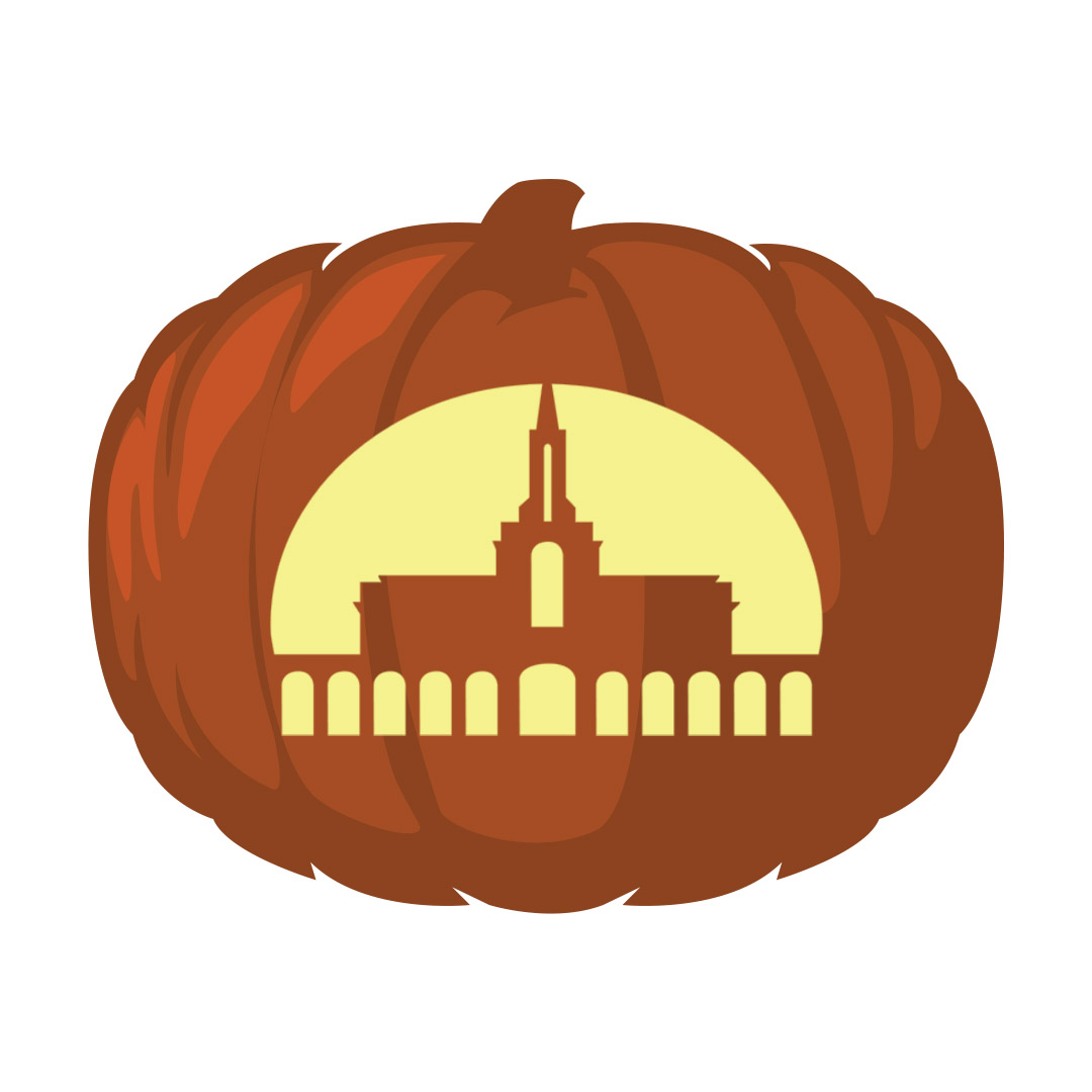 Bountiful Temple Pumpkin Carving Template - Printable - LDPD-PBL-PUMP-BOUNTIFUL