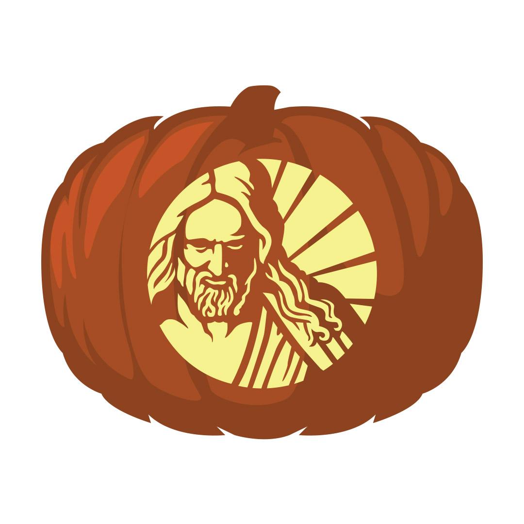 Christus Profile Pumpkin Carving Template - Printable - LDPD-PBL-PUMP-CHRIST-2