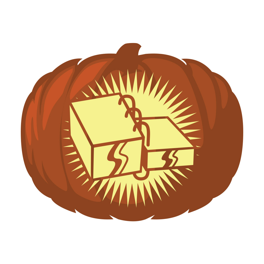 Gold Plates Pumpkin Carving Template - Printable  - LDPD-PBL-PUMP-GLDPLATE