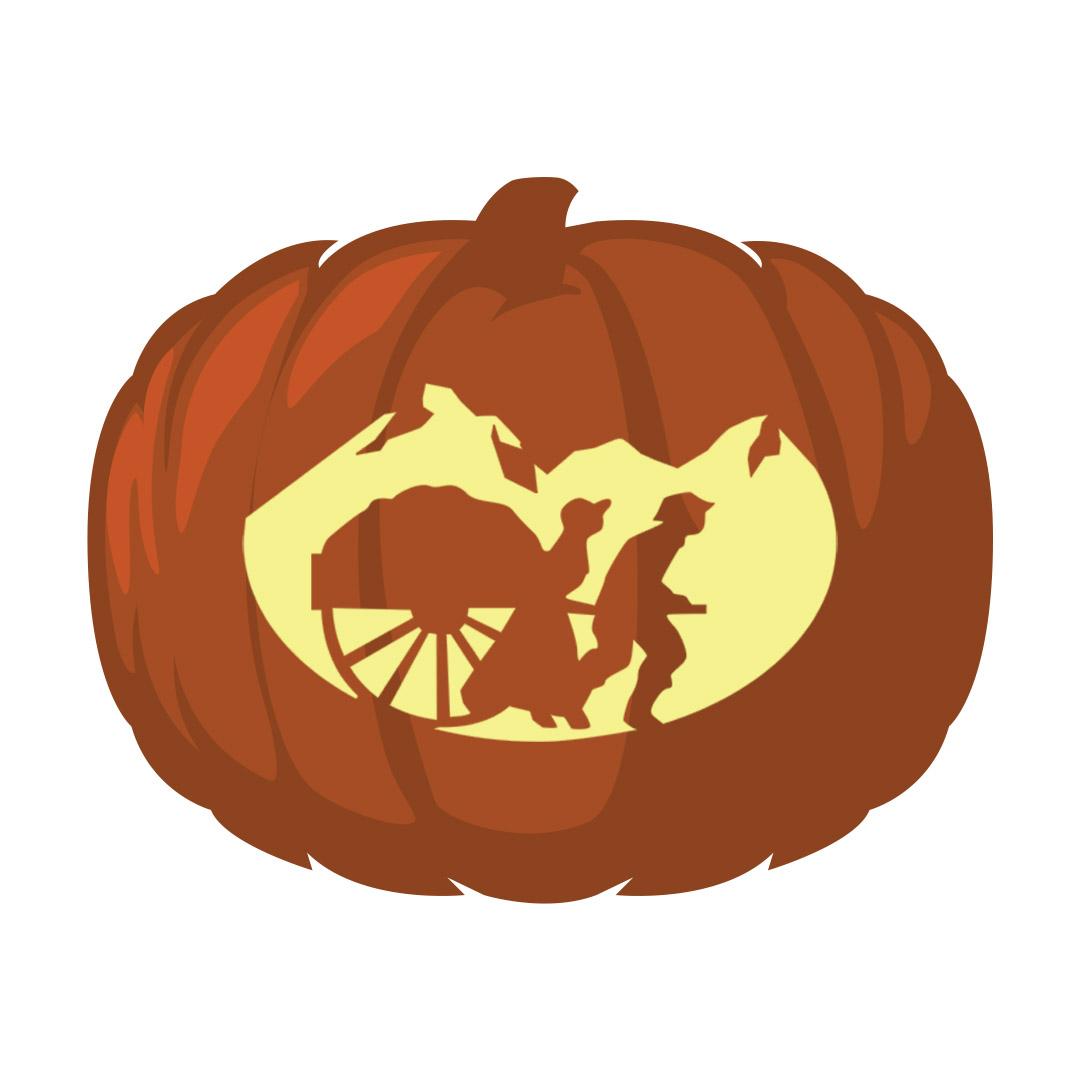 Pioneer Pumpkin Carving Template - Printable  - LDPD-PBL-PUMP-PIONEER