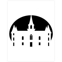 Provo City Center Temple Pumpkin Carving Template - Printable  lds pumpkin carving templates, lds halloween ideas, lds halloween activities