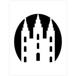 Basic Salt Lake City Temple Pumpkin Carving Template - Printable  lds pumpkin carving templates, lds halloween ideas, lds halloween activities