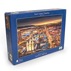 Salt Lake Temple Night Puzzle