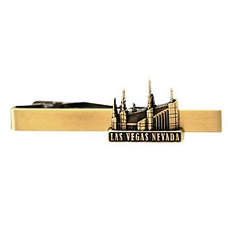Las Vegas Nevada Temple Tie Bar - Gold