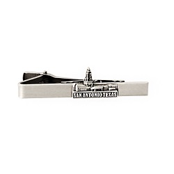 San Antonio Texas Temple Tie Bar - Silver