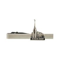 Rexburg Idaho Temple Tie Bar - Silver