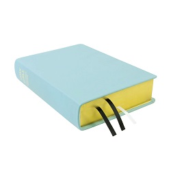 Large Hand-Bound Leather Bible - Baby Blue - LDP-HB-LB-BBL