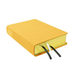 Large Hand-Bound Leather Bible - Buttercup Yellow yellow lds scriptures, custom lds scriptures, yellow lds scripture, yellow Bible combination, mustard lds scriptures,color Bible combination scriptures,yellow Bible combination scriptures