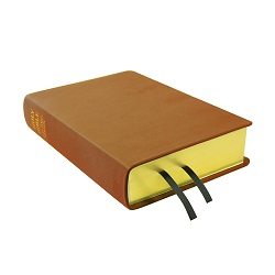 Large Hand-Bound Leather Bible - Carmel Brown brown lds scriptures, custom lds scriptures, brown lds scripture, brown Bible combination,color Bible combination scriptures,brown Bible combination scriptures
