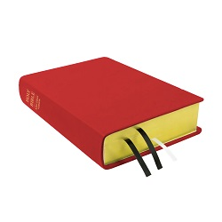 Large Hand-Bound Leather Bible - Cherry Red red lds scriptures, custom lds scriptures, red lds scripture, red Bible combination,color Bible combination scriptures,red Bible combination scriptures