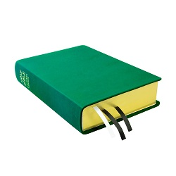 Large Hand-Bound Leather Bible - Kelly Green green lds scriptures, custom lds scriptures, green lds scripture, green Bible combination,color Bible combination scriptures,green Bible combination scriptures