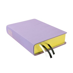 Large Hand-Bound Leather Bible - Lavender purple lds scriptures, custom lds scriptures, purple lds scripture, purple Bible combination,color Bible combination scriptures,purple Bible combination scriptures