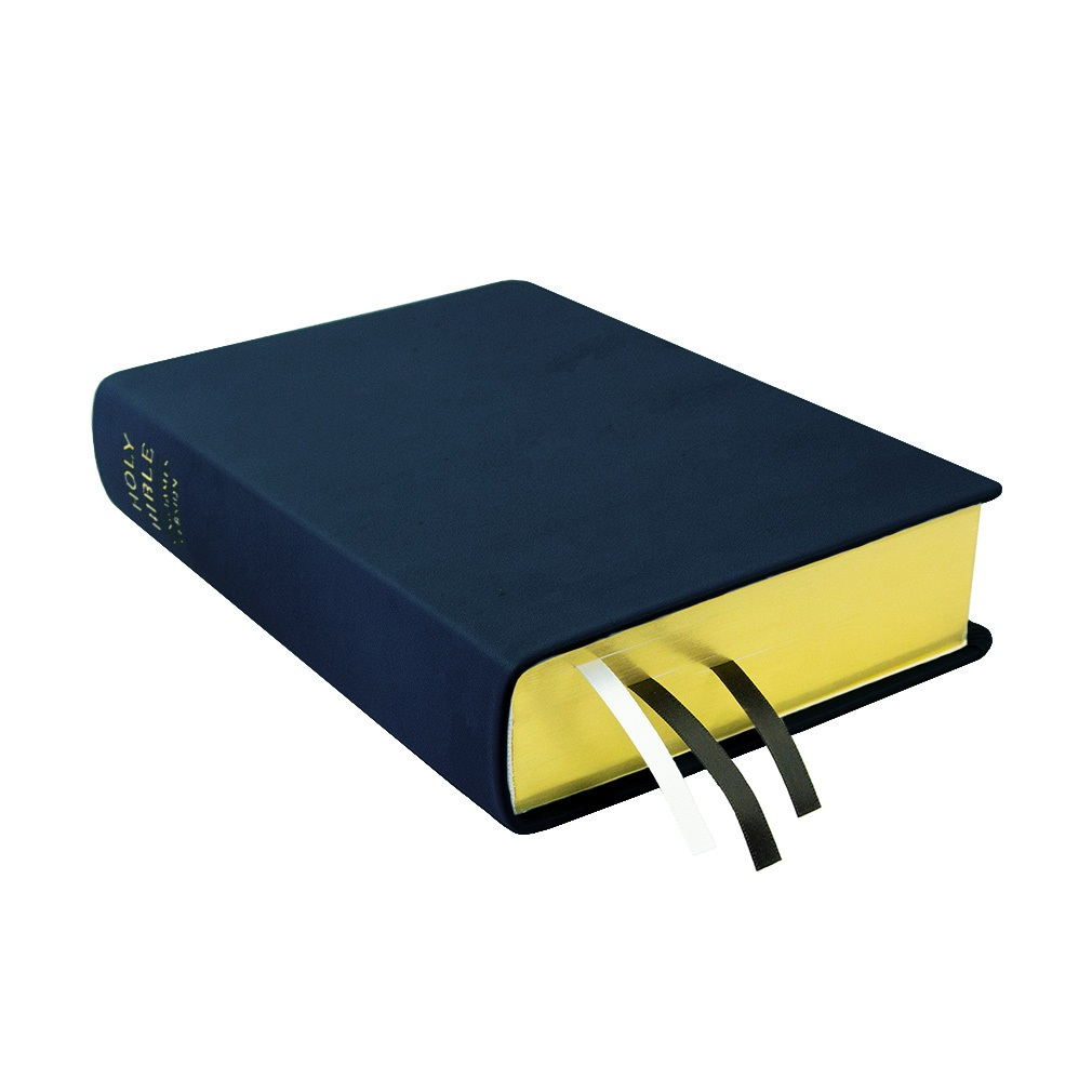 Large Hand-Bound Leather Bible - Navy Blue blue lds scriptures, custom lds scriptures, blue lds scripture, blue Bible combination,color Bible combination scriptures,blue Bible combination scriptures