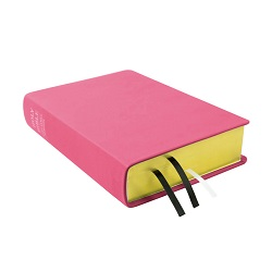 Large Hand-Bound Leather Bible - Pink pink lds scriptures, custom lds scriptures, pink lds scripture, pink Bible combination, color Bible combination scriptures,pink Bible combination scriptures