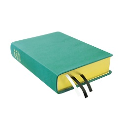 Large Hand-Bound Leather Bible - Teal Teal lds scriptures, custom lds scriptures, teal lds scripture, teal Bible combination, color Bible combination scriptures, teal Bible combination scriptures