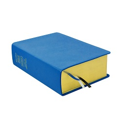 Large Hand-Bound Leather Quad - Aqua Blue blue lds scriptures, custom lds scriptures, blue lds scripture, blue quad,color quad scriptures,blue quad scriptures